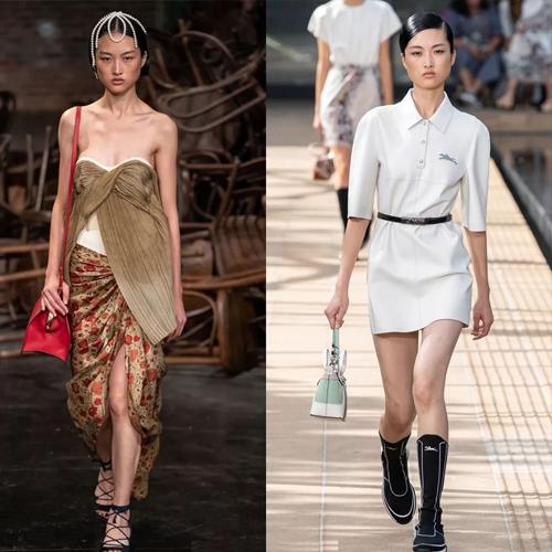 四大时装周超模李静雯走秀21场 多次唯一国模亮相